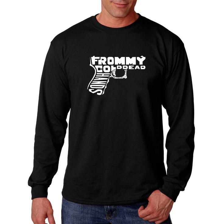 Los Angeles Pop Art Men's Long Sleeve T-shirt - Out of My cold Dead Hands Gun