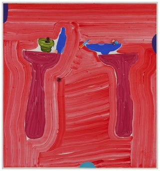 Jussi Goman: Yours and Mine, 2016, acrylic on canvas,  150x140 cm - Galerie Forsblom 2016