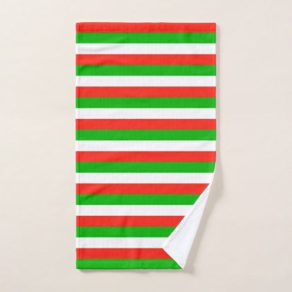 wales flag stripes lines pattern hand towel  - stripes gifts cyo unique style