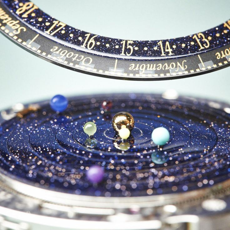Dumbledore's watch finally exists! Keep the solar system on your wrist.  Van Cleef & Arpels Midnight Planétarium Poetic Complication Timepiece.