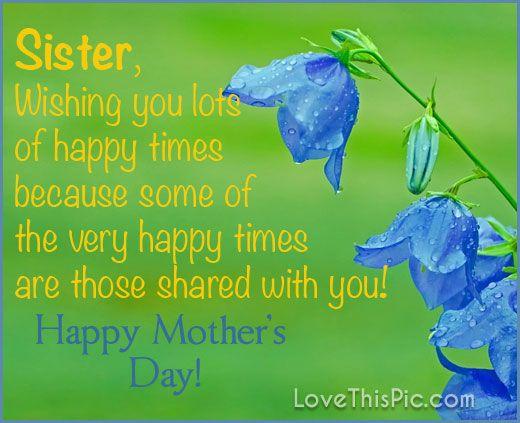 Sister Wishing You A Happy Mothers Day