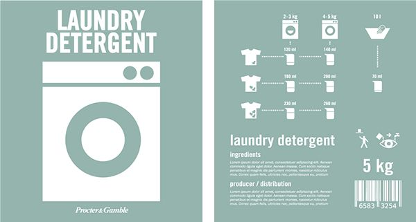 Detergent packaging on Behance