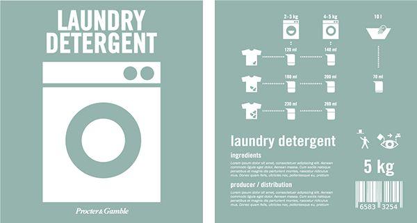 Detergent packaging on Behance