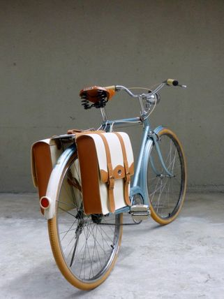 saddle bags...This is a great idea for moving around a college campus.