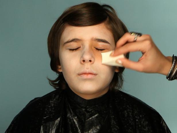 Kid's Halloween Makeup Tutorial: Ghoulish Vampire  - on HGTV