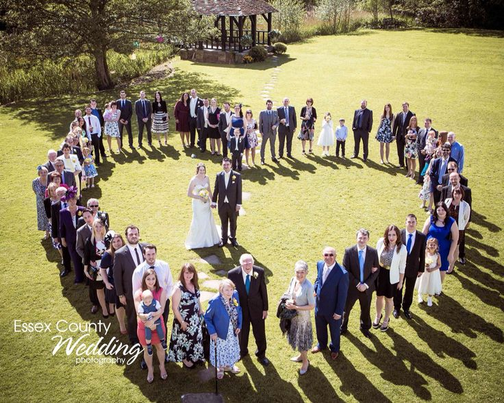 Heart shape wedding group shot most requested popular shape