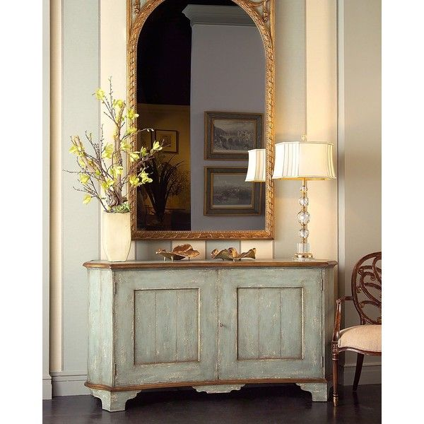 John-Richard Collection Lucette Sideboard ($4,679) ❤ liked on Polyvore featuring home, furniture, storage & shelves, sideboards, rooms, blue, blue furniture, painted furniture, acacia wood furniture and hand made furniture