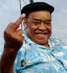 James Cotton - Blues harp legend. Apparently he's happy to see us!