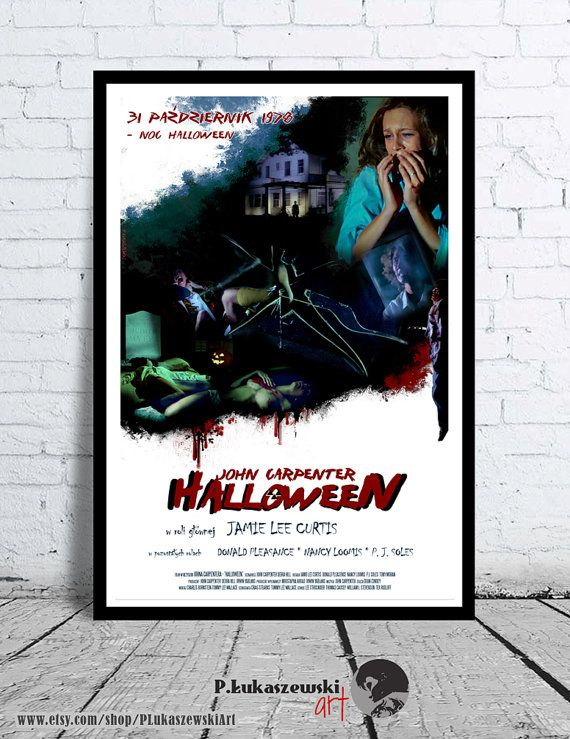 HALLOWEEN - John Carpenter - cult / classic alternative movie poster / print [ Donald Pleasence Jamie Lee Curtis P.J. Soles ] horror