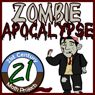 Zombie Apocalypse -- Life Saving STEM Project / Safety Plan - 21st Century Math Projects -- Engaging Middle  High School Math Projects