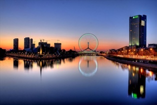 Tiajin Eye on the Chihai Bridge, China