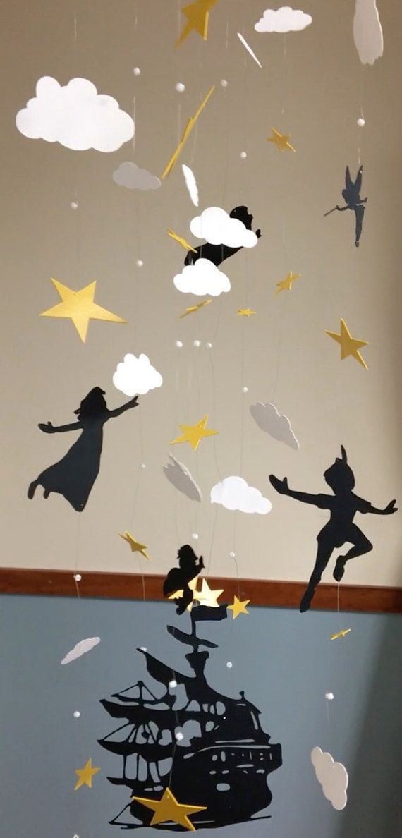 Peter Pan - Modern - Baby Mobile - Handmade - Custom Mobile - Nursery Decor…