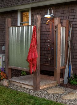 There is just nothing that makes you feel so fresh as an outdoor shower.