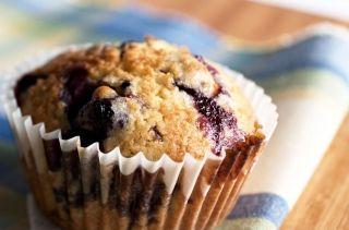 Muffins au yogourt et bleuets (petits fruits)