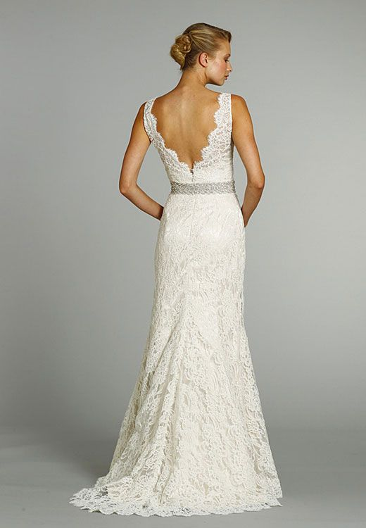 I do not like poofy wedding dresses (for myself).  I want something simple, elegant, lacy, and flowy.  Nothing big.