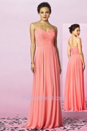BRIDESMAIDS in ombre-After Six Bridesmaid Dress 6639 | After Six bridesmaid style 6639. Strapless full length lux chiffon dress...