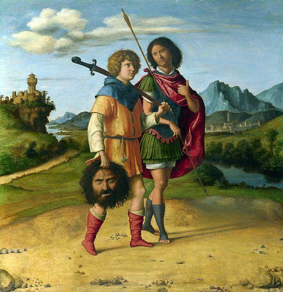 Gionata e David con la testa di Golia.