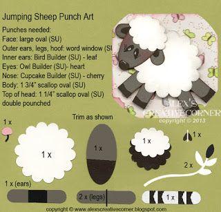 Alex's Creative Corner: Jumping Sheep Punch Art Instructions