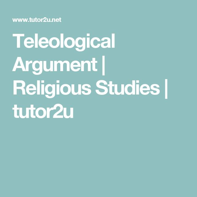 Teleological Argument | Religious Studies | tutor2u