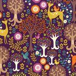 Michael Miller Norwegian Woods Fantasy Forest Purple