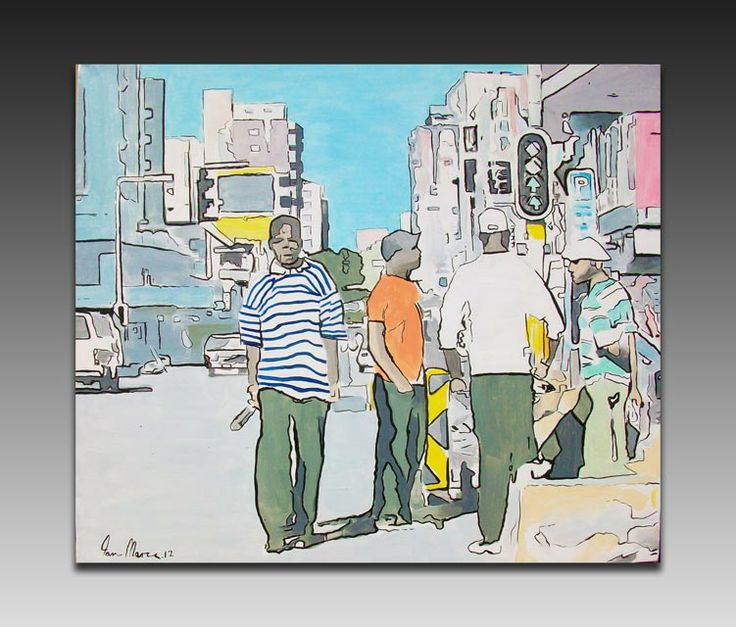 Joburg Day Scene Painting