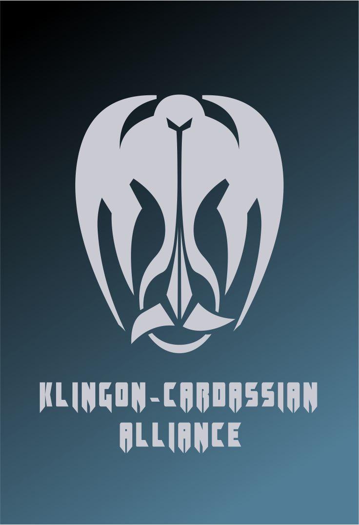 Star Trek Logo Klingon-Cardassian Alliance (Mirror Universe) Flat Design