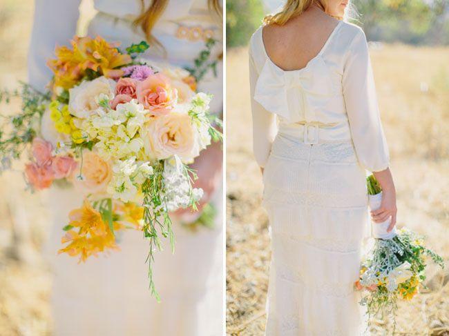 Bridal blouse via The Daisy Shoppe - Retro-Meets-Rustic Wedding Inspiration by Folklore Vintage Rentals (event design, coordination + styling) + Jen Wojcik Photography - via greenweddingshoes