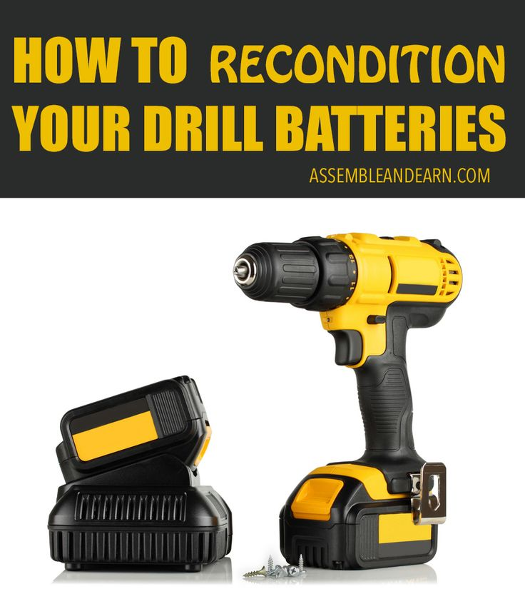 Learn to restore all your tool and drill batteries to new like condition. Make them last 3 times longer. Simple ways to recondition all your batteries.