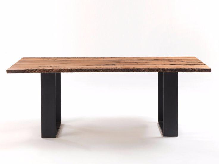 Tavolo rettangolare in legno massello NEWTON BRICCOLA by Riva 1920