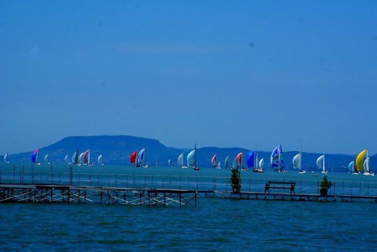 Kèkszalag - Europe's longest round the lake sailing competition at Lake Balaton