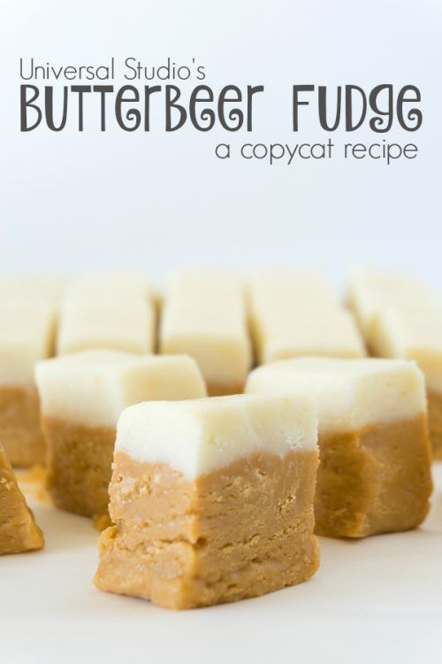 Butterbeer Fudge Recipe This one goes out to all of the Harry Potter fans. Imagine going to Honey Duke's candy shop in Hogsmeade. You enter the magical shop to see they are setting out samples of their top selling fudge, Butterbeer Fudge Recipe. The little squares even have a lighter top for the foam portion. … Continue reading »