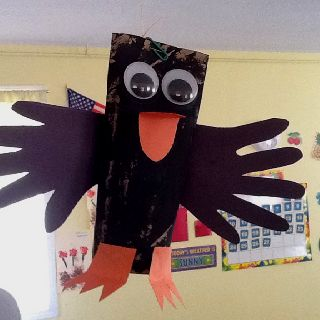 Elijah S Raven Made From A Toilet Paper Tube And