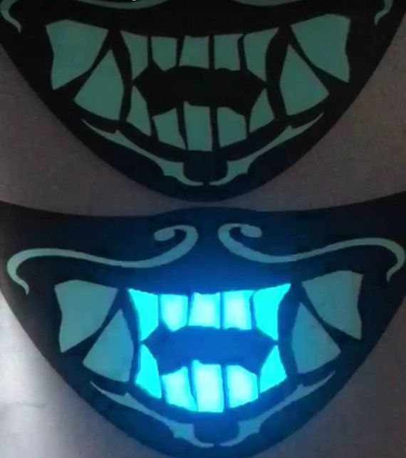 Kda Akali Mask Cosplay Led Voice Activated Etsy Mask Voice Activated The Voice