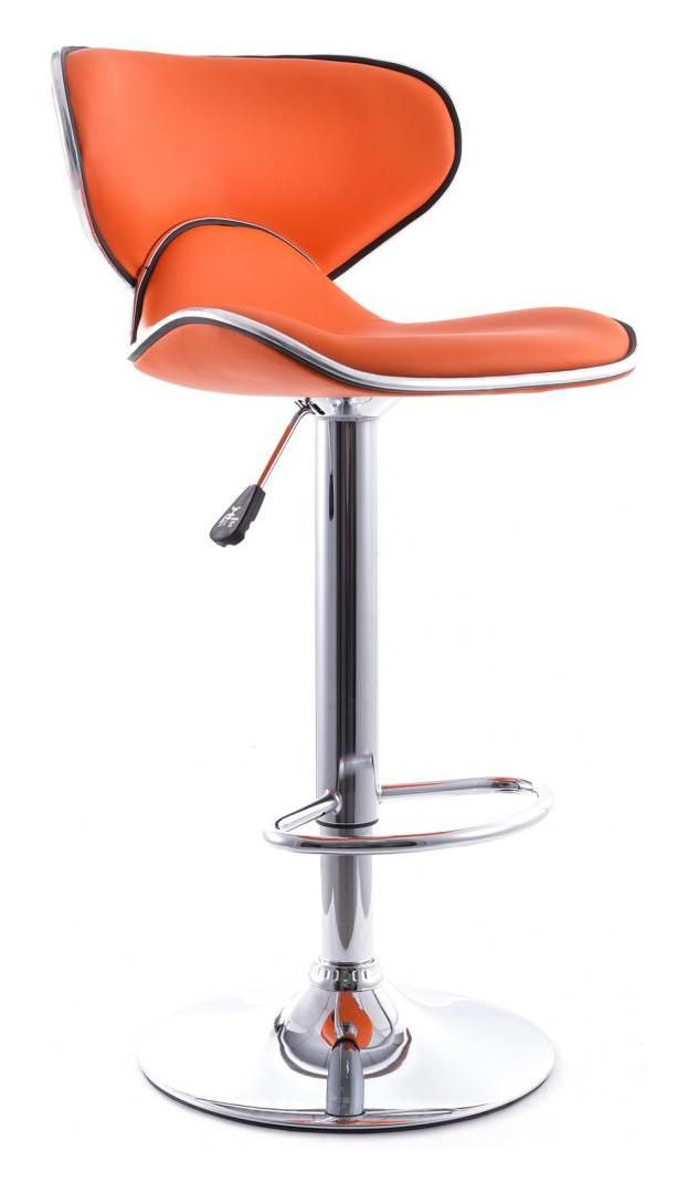 Tabouret De Bar Curved Back Pivotant Orange A241090 Chair Barber Chair Home Decor