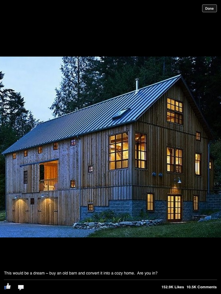 Barn converted into home