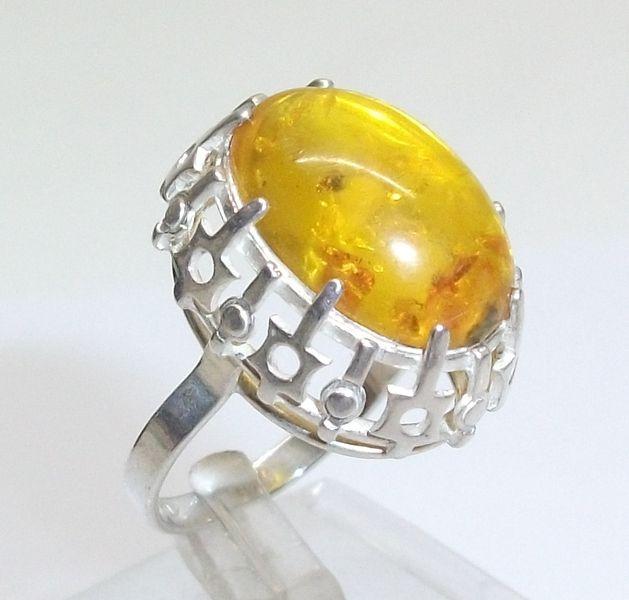 Alter,+antiker+Bernsteinring+Silberring+835+SR117+von+Atelier+Regina++auf+DaWanda.com