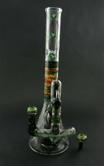 handmade glass bongs illadelph custom beaker with curved inline and vapor 5918