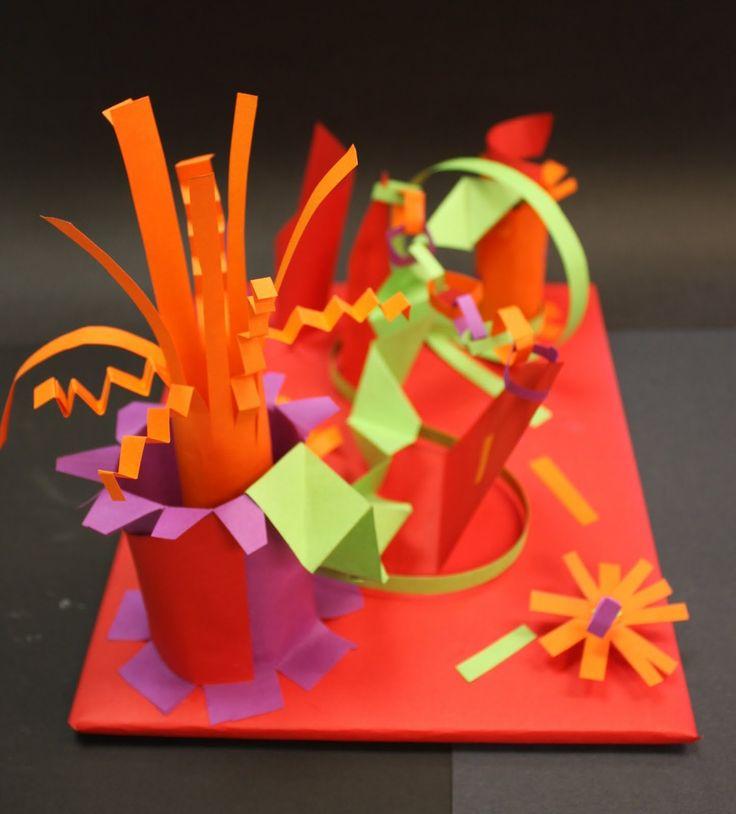 17 best ideas about paper sculptures on pinterest paper for Paper folding art projects