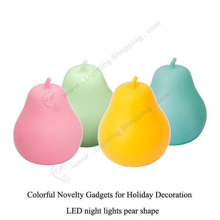 4 colors, #Pear #shaped #LED #night #lights, Cute #novelty #gadgets, For holiday decoration lighting.  http://www.lightingshopping.com/led-night-lights-pear-shape.html
