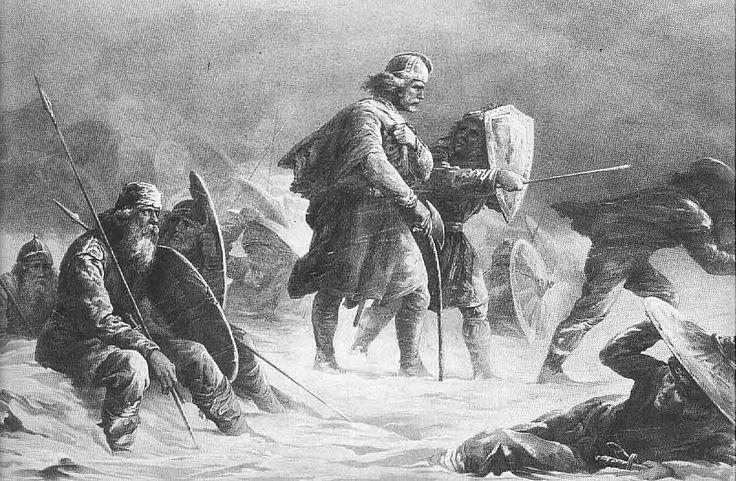 Knud Bergslien - Kong Sverre på Vossefjellene, 1876