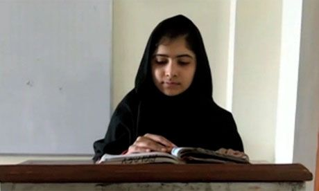 12 July 2013.  On her 16th birthday, the international campaigner Malala will tell the UN that books and pens are our most powerful weapons. What an inspiration she is.