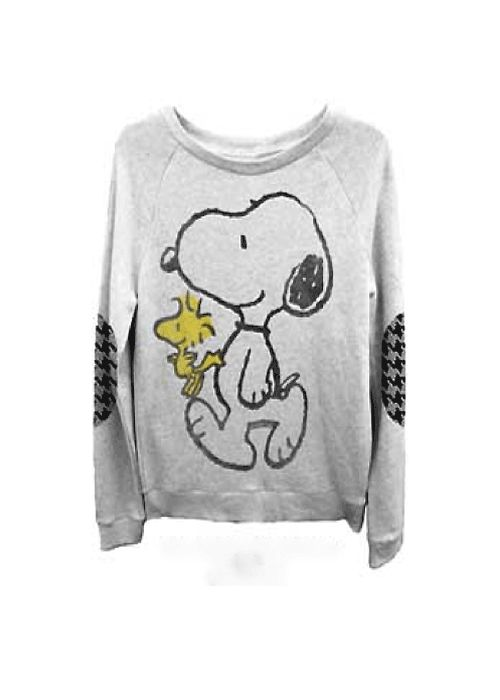 peanuts snoopy woodstock junior s sweatshirt in light grey. Black Bedroom Furniture Sets. Home Design Ideas