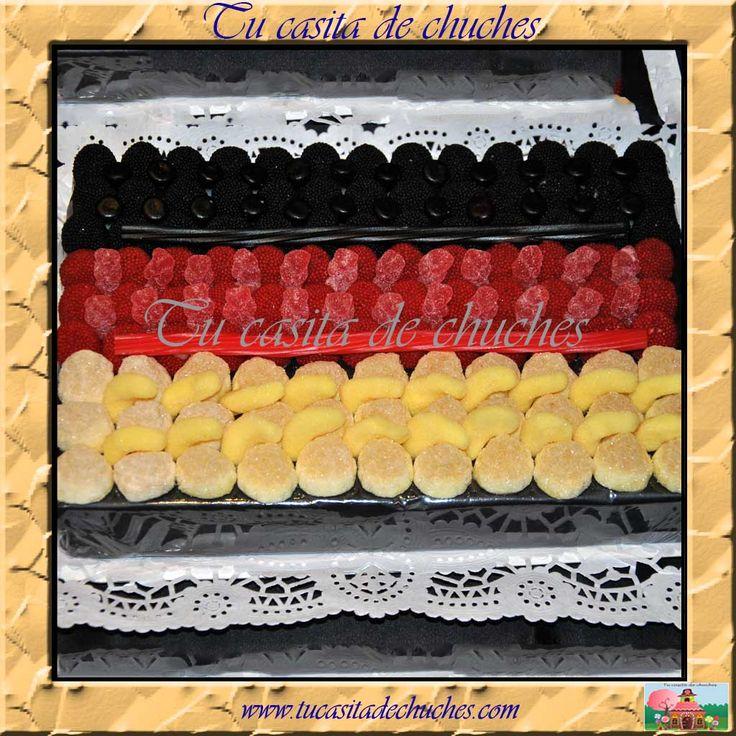 Tarta de chuches bandera de Alemania
