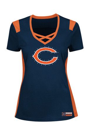 Chicago Bears Womens Draft Me Fashion Football Jersey - Navy Blue