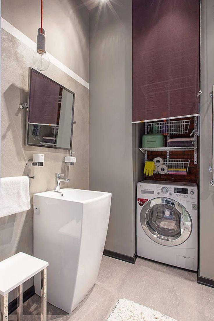 banheiro-pequeno-pia-moderna. projetado pela Auroom