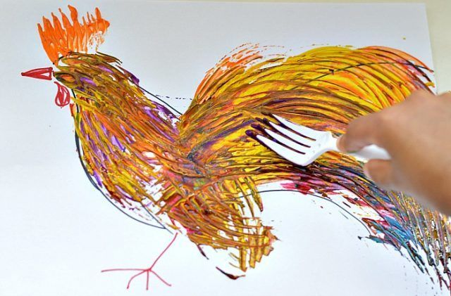 art activities for kids with forks