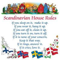 Swedish Gift Wall Tile: Scandinavian House Rules