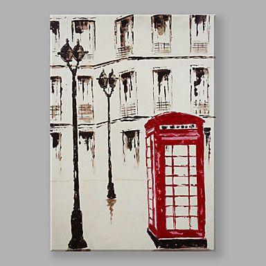 【今だけ☆送料無料】 アートパネル  自然・風景画1枚で1セット 街路灯 赤い 公衆電話 ボックス プレゼント 【納期】お取り寄せ2~3週間前後で発送予定