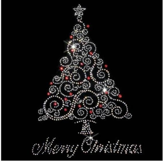 Rhinestone Christmas Tree Christmas Tree PNG Bling xmas tree Digital Christmas Trees Diamond xmas tree clipart