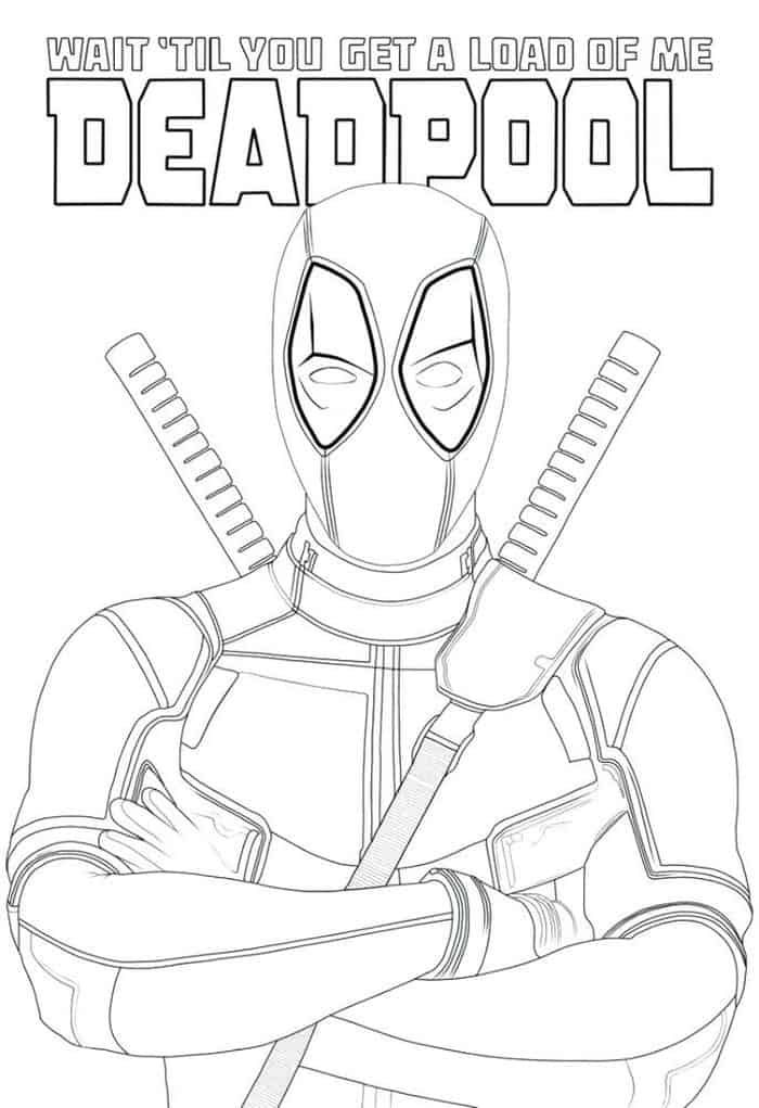 Cartoon Cute Deadpool Coloring Pages